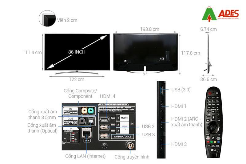 Smart Tivi LG 86 inch 86SJ957T